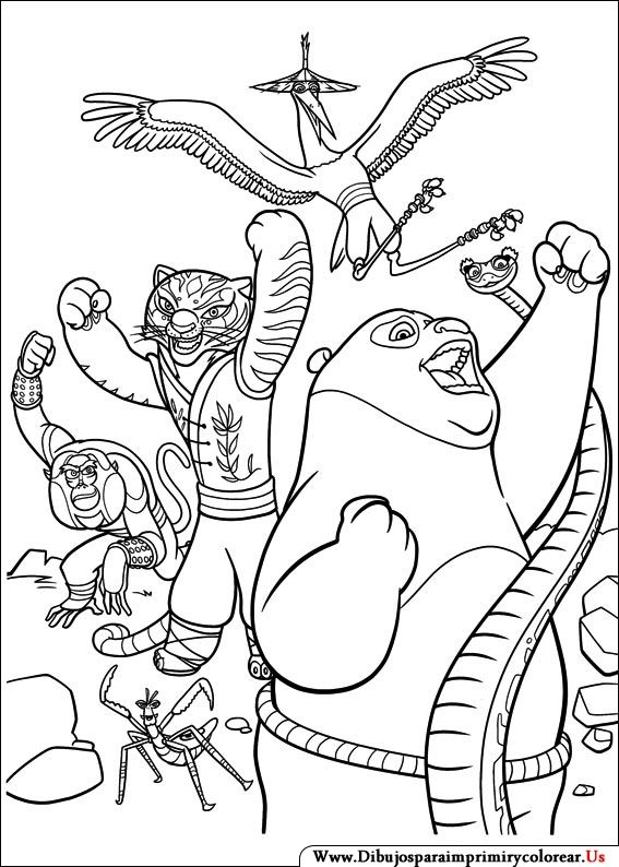 Dibujos de Kung Fu Panda para Imprimir y Colorear | Manualidades ...