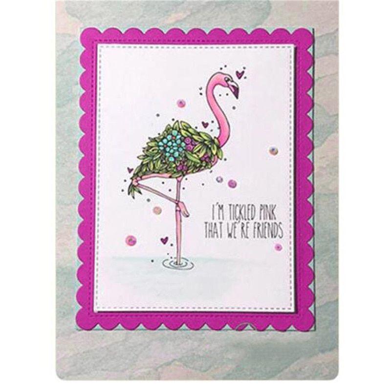 flamingo transparent clear stamp diy scrapbooking//card christmas album decorHJ