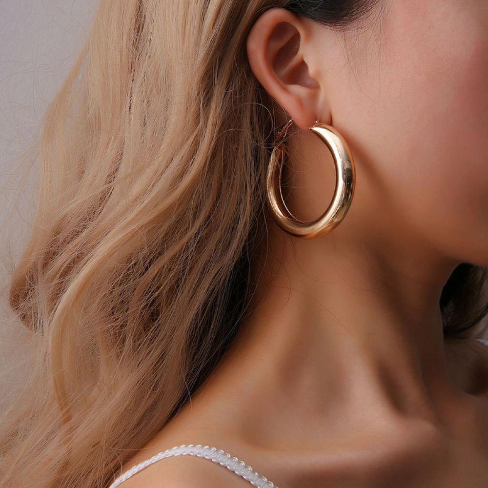 Circle Earrings Big Hoop Earrings Brass Hoop Earrings Double Hoop Earrings Copper Earrings Small Hoop Earrings