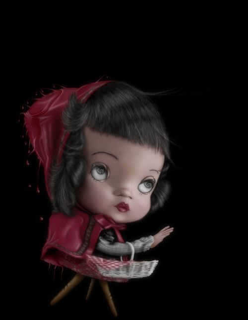 Little Red Riding Hood with wooden legs by Saul Zanolari.