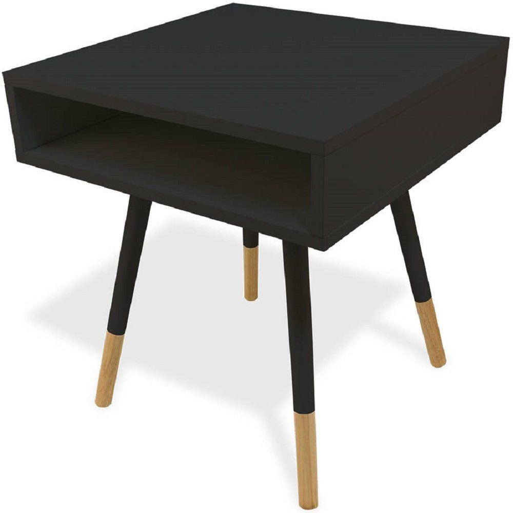 Side table in black mid century end table accent table