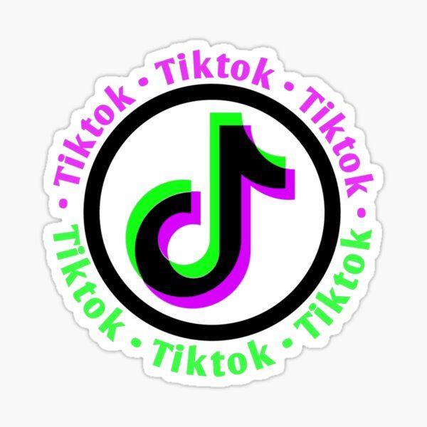 aesthetic tiktok logo sticker, aesthetic tiktok logo pink ...