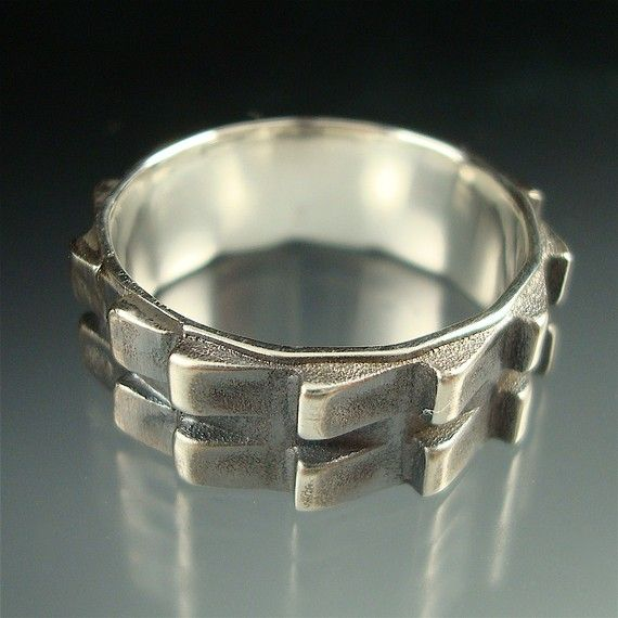 Cog  Sterling Silver Gear Ring  unisex by daniellejewelry on Etsy