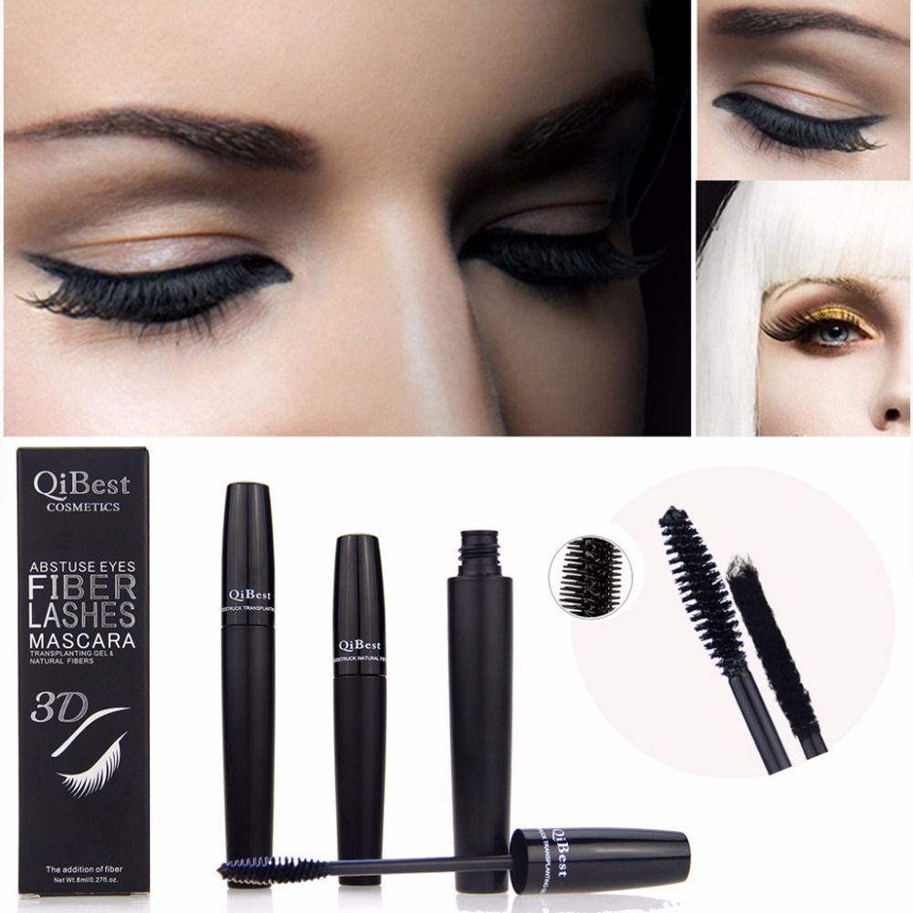 c515b3a6017 2017 3D Thick Fiber Waterproof Mascara Eyelash Long Curling Lashes  Extension Black JUN16