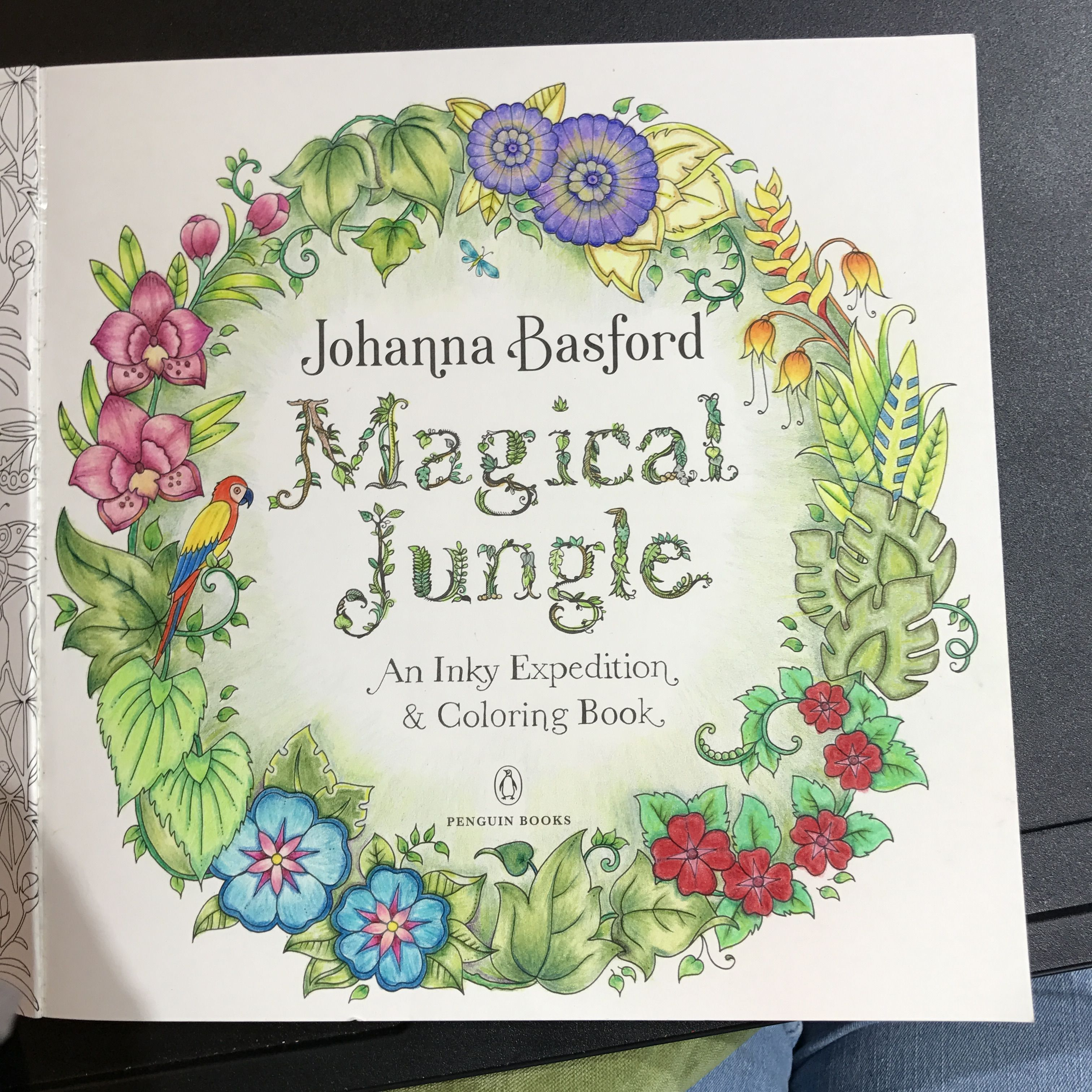 title page from johanna basford u0027s magical jungle colored with