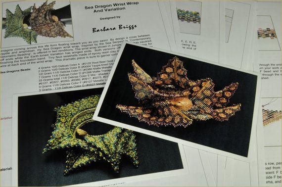 Digital - Pattern for the Sea Dragon and Sea Dragon Variation Wrist Wrap via Etsy Quelle maitrise......