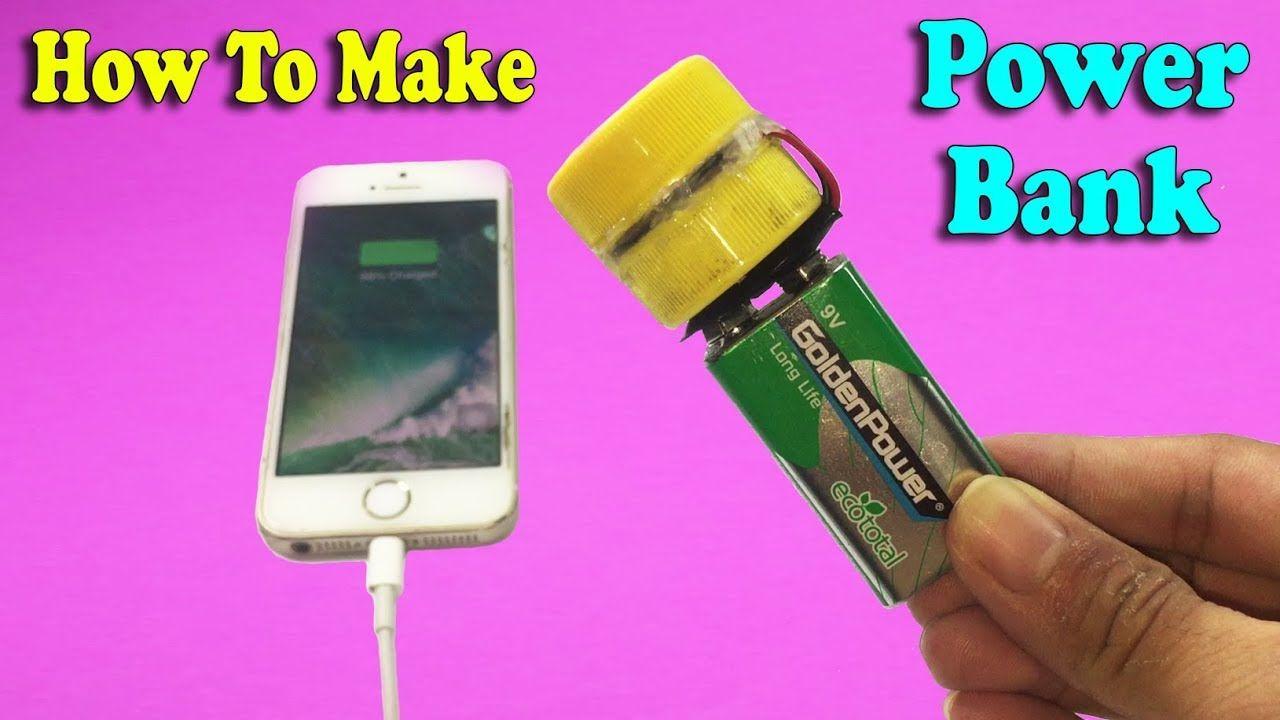 How To Make Mini Power Bank For Mobile Diy At Home Life Hacks Diy Mobile Simple Life Hacks Electronics Diy Hacks