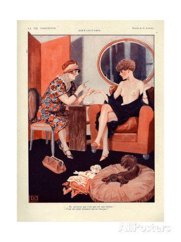 Georges Léonnec (1881 - 1940). La Vie Parisienne, 1927. [Pinned 13-i-2015]