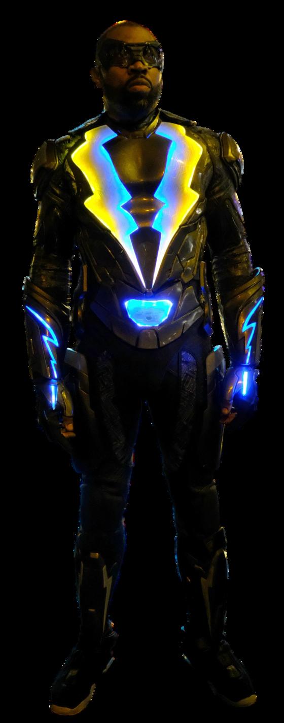 Black Lightning Full Body Transparent By Https Www Deviantart Com Camo Flauge On Devianta Black Lightning Black Lightning Static Shock Supergirl Season