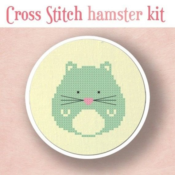Hamster Cross Stitch Kit