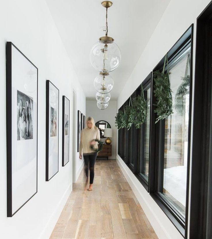 Hallway With Large Scale Art