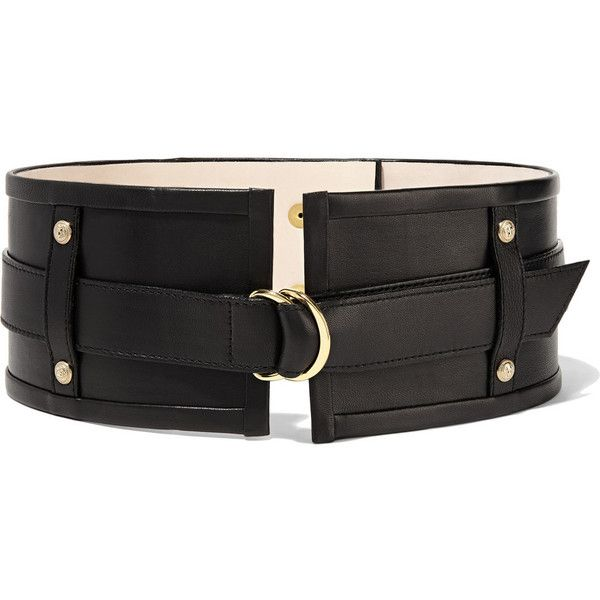 Embellished Leather Waist Belt - Black Balmain W1HCqM