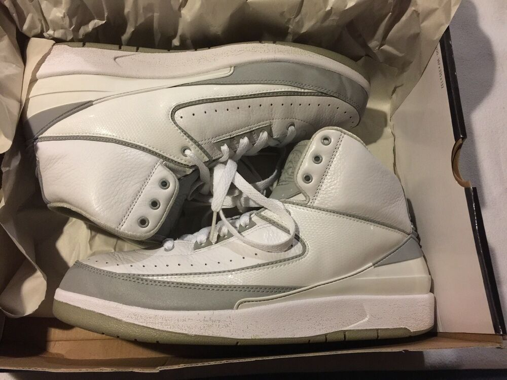 f22530af98fb74 Air Jordan Retro 2 Anniversary White Metallic Silver 3 M 2009 DS Mens 10   fashion  clothing  shoes  accessories  mensshoes  athleticshoes (ebay link)