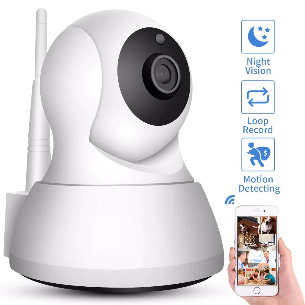 Monitor Camara de Vision Nocturna IP 720P Seguridad del Hogar Inalambrica WIFI.