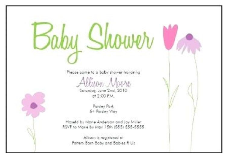 Baby Shower Invitation Cards Background Free Baby Shower
