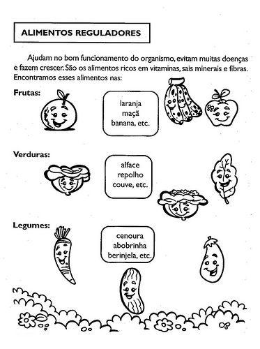 Alimentos Reguladores Atividades De Nutricao Atividades Sobre