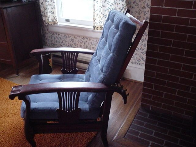 antique heywood wakefield morris chair original signed mission style recliner