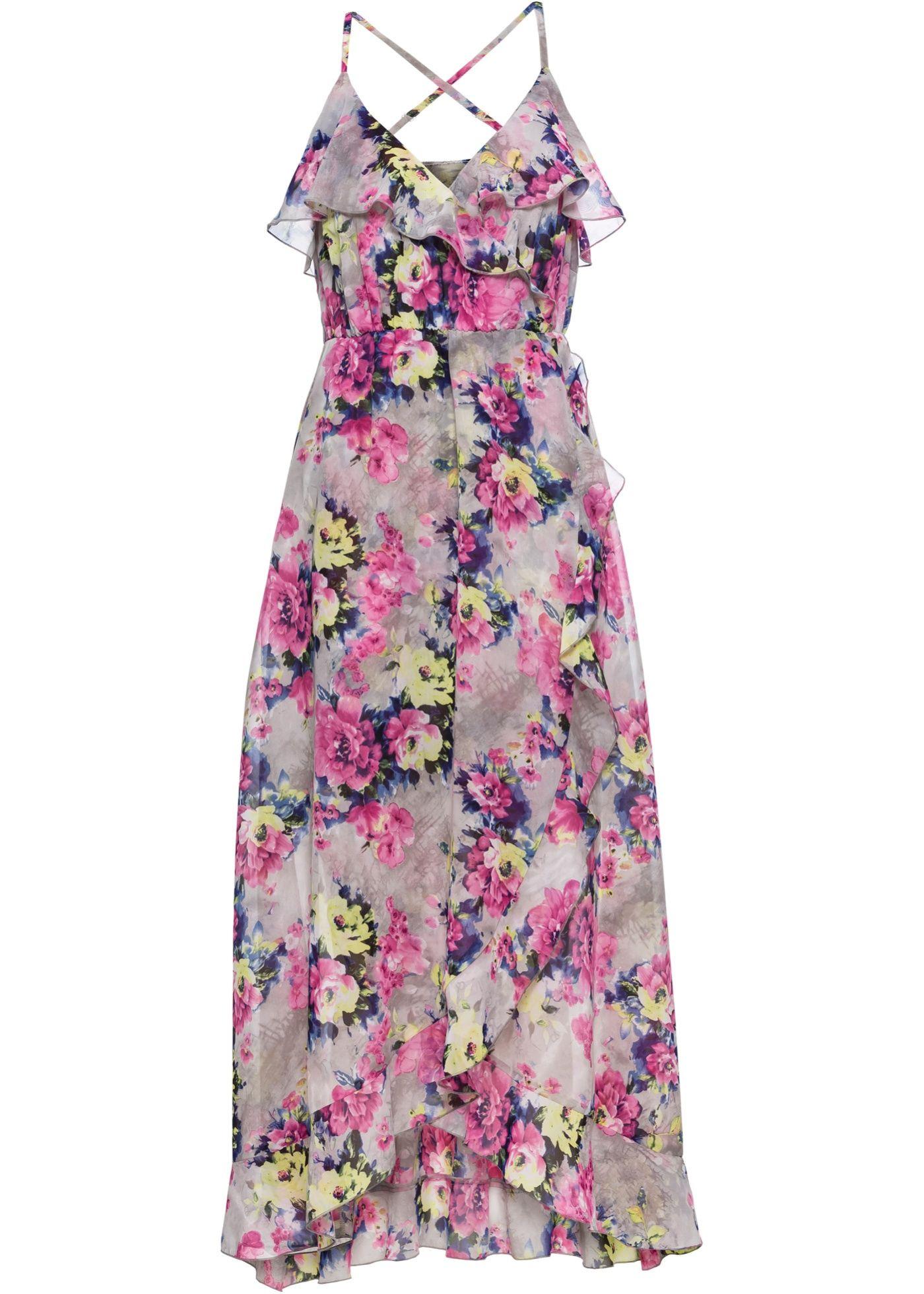 Midikleid mit Blumenprint | Kleid arbeit, Neues kleid und ...
