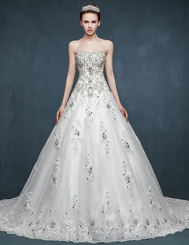 Exceptional Affordable Wedding Dress Designers List: Wedding Dresses Beaded A Line  Princess Inlaid Diamonds Pictures