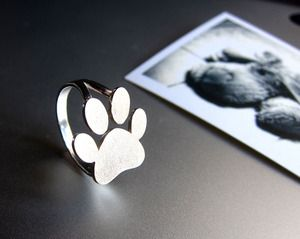 Image of Paw Print Ring - Handmade Silver Ring