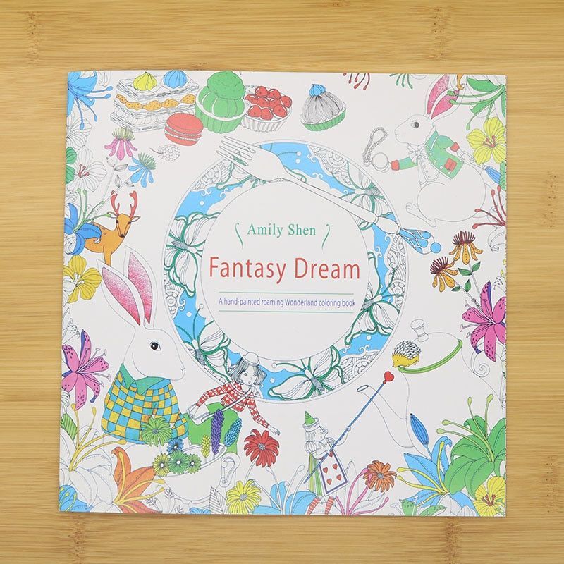 24 Pages Hand Painted Coloring English Wallpaper Fantasy Dream