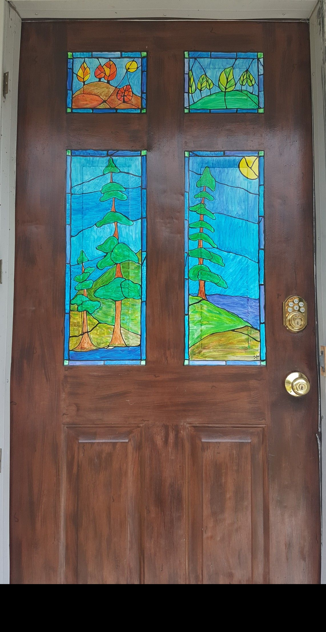 Faux Stained Glass Painting On My Front Door Painting Pinterest