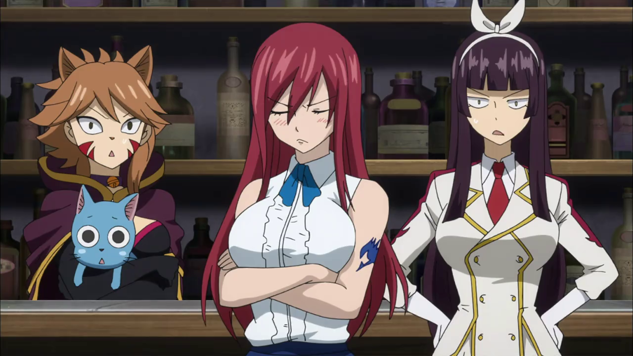Millianna, Happy, Erza, and Kagura | The Fairy Tail Guild ...