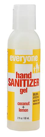 Everyone Hand Sanitizer Coconut Lemon Gel 2oz 636874220468 Hand