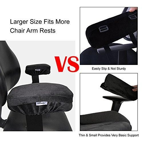 Set of 2 Memory Foam Office Chair Armrest Pads Elbow Pillows Cushion Pad