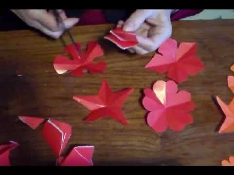 Como cortar flores de 5 pétalos.As cut flowers with 5 petals. - YouTube