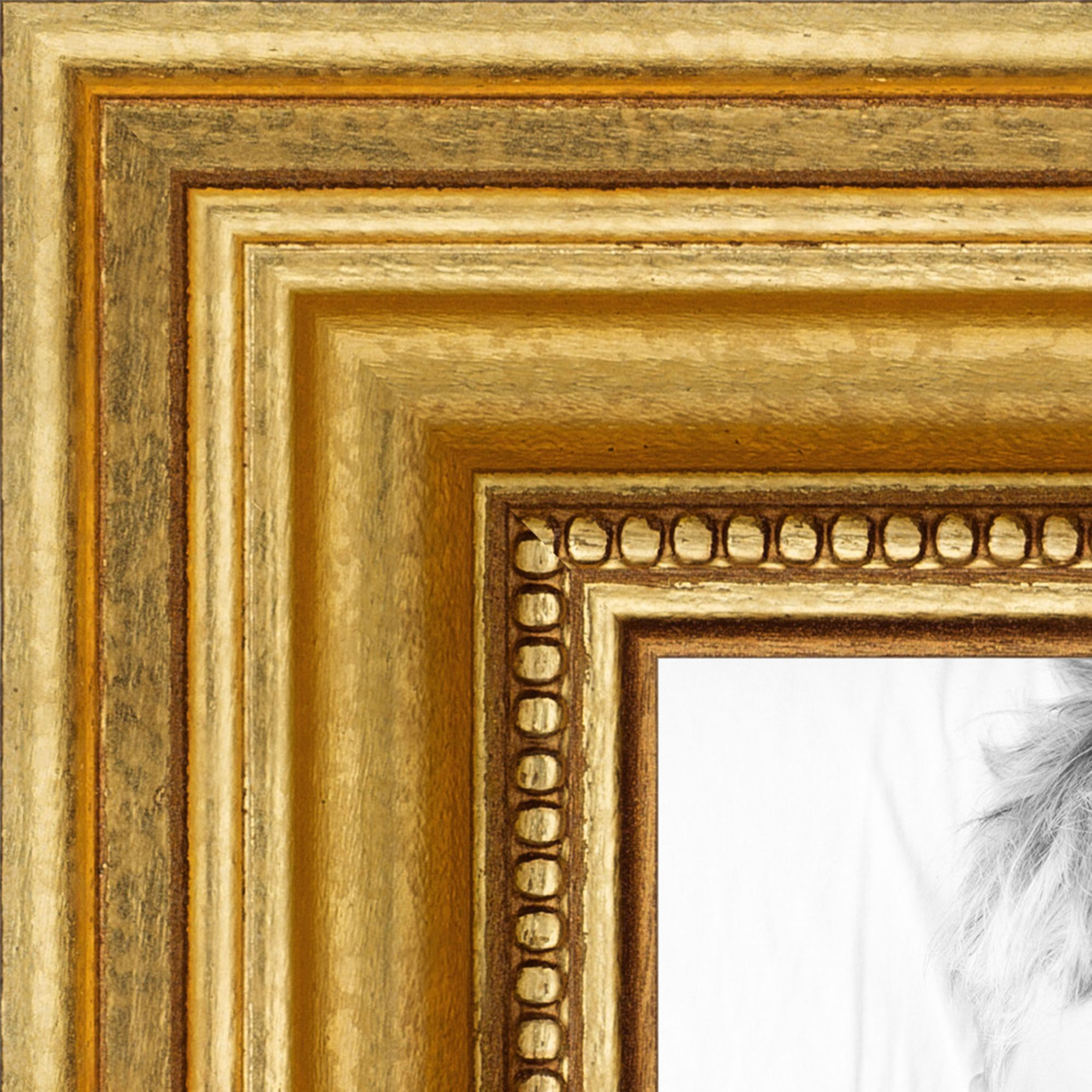 8 5x14 inch gold picture frame