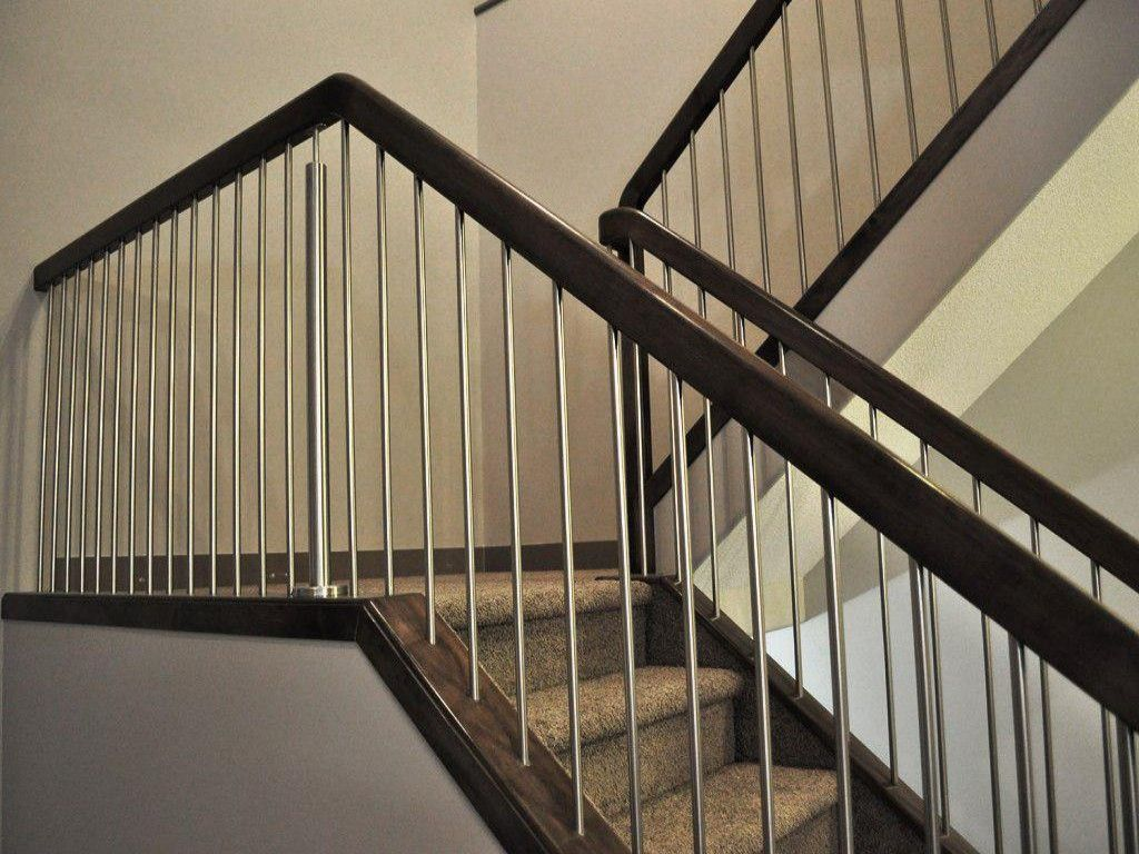 Best Wood Staircase Metal Rail Google Search Modern Stair 400 x 300