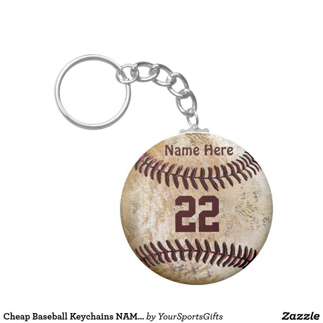 Cheap baseball keychains name number for team zazzle