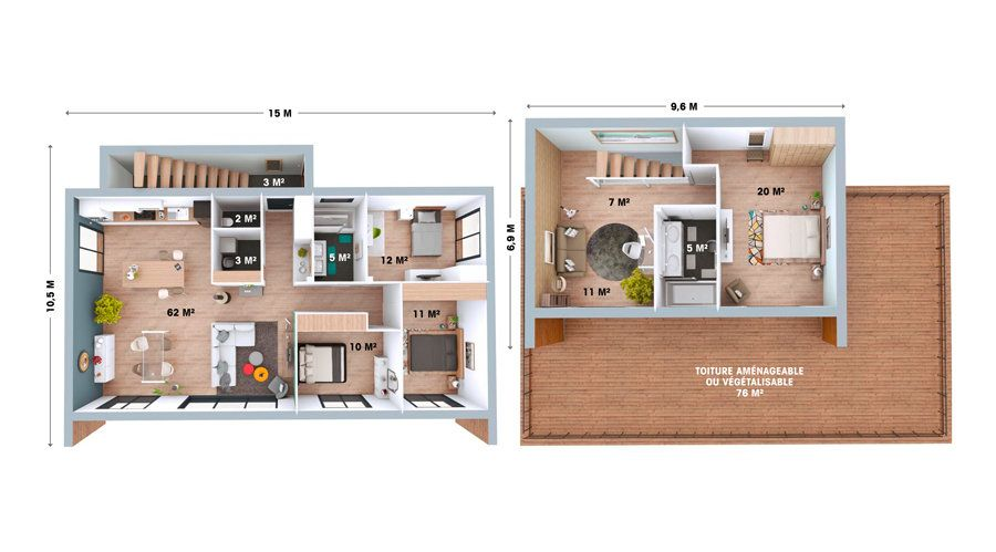 booa-maison-plan-roof6 Bien Pinterest