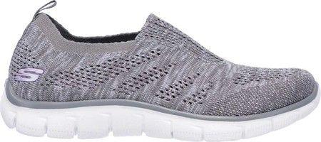 Skechers Women S Empire Inside Look Slip On Sneaker Skechers Grey Shoes Fabric Shoes