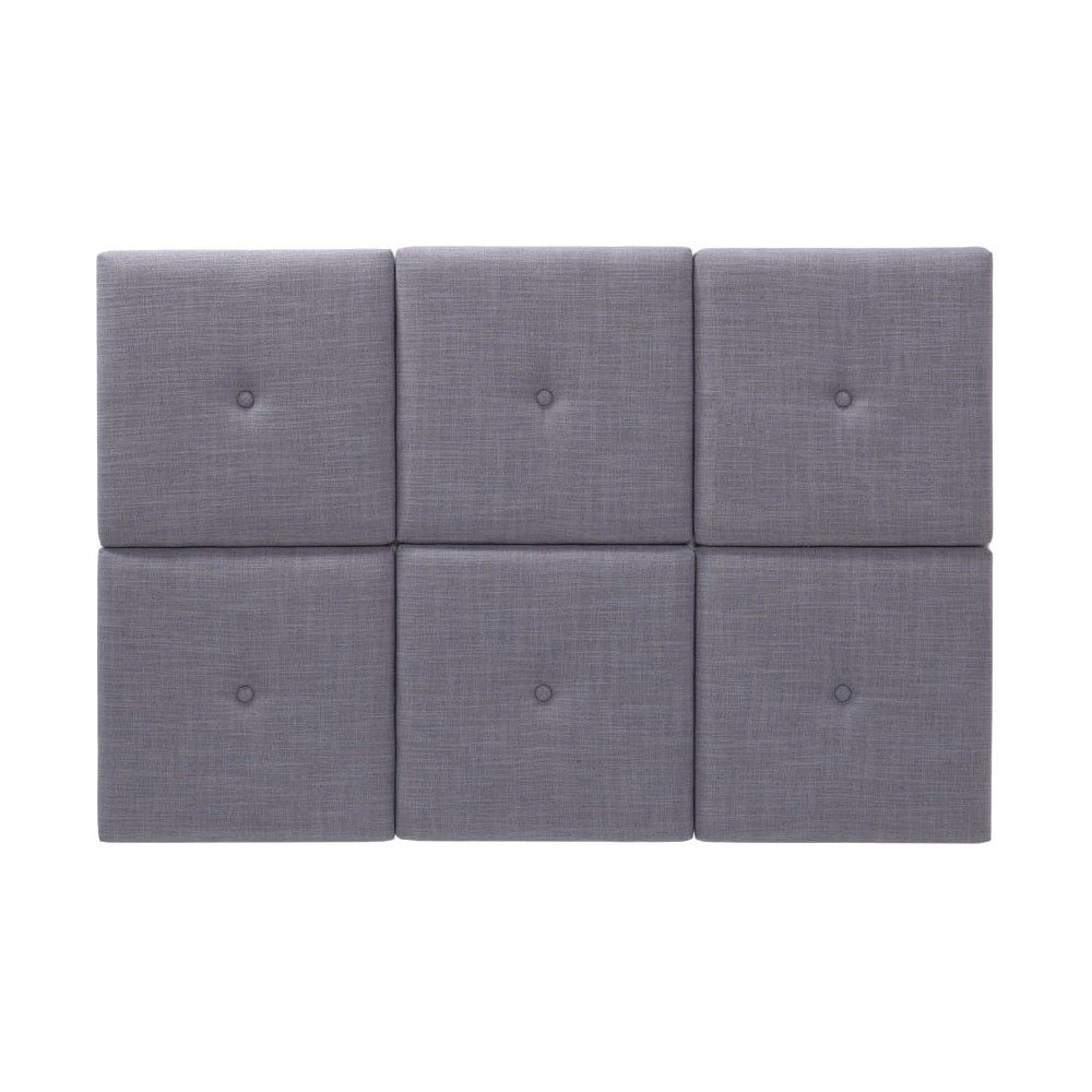 Upholstered Headboard Tiles with Tuft - Grey(Twin)