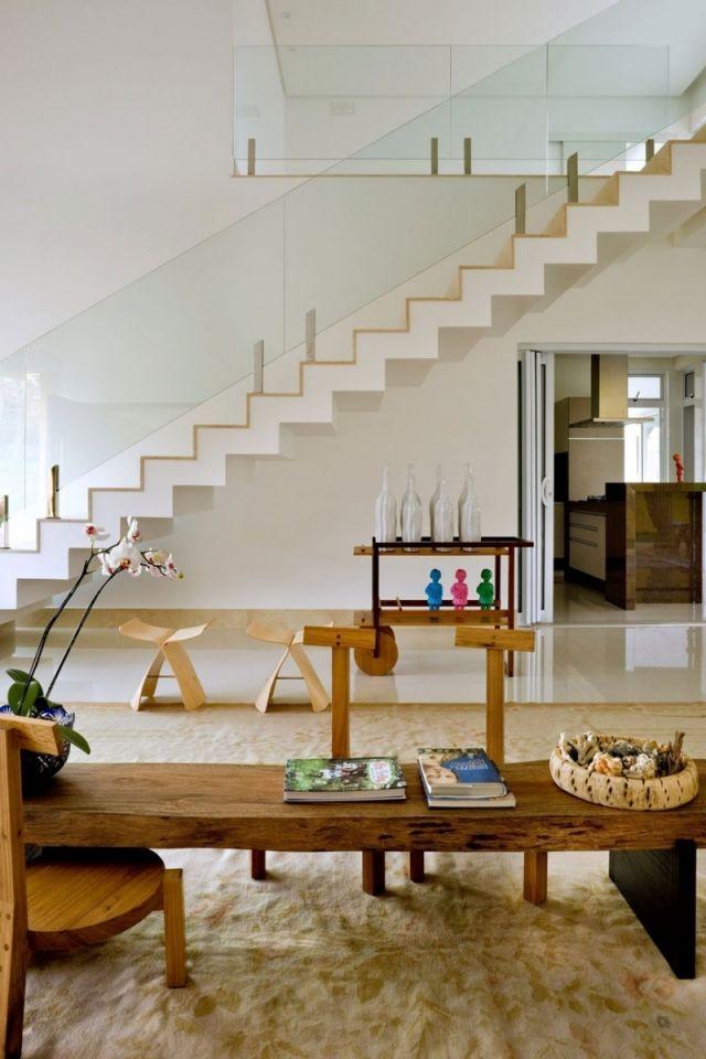 Formschöne Treppe bequem wenig-Platzbedarf Faltwerktreppe modern - ideen moderne designtreppen individuellen wohnstil