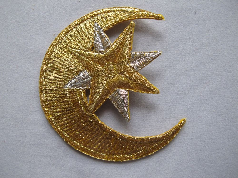Embroidered Patch Iron on Applique Yellow Nativity Star Christmas Bethlehem S
