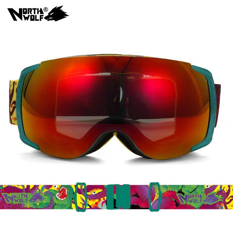 faa2c721437 Unisex UV400 Anti-Fog Double-Lens Professional Ski Goggles Skiing Eyewear  Ski Glasses Skiing