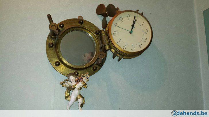 Spiegel Met Klok : Te koop antieke patrijspoort met klok en met spiegel zeer mooi stuk