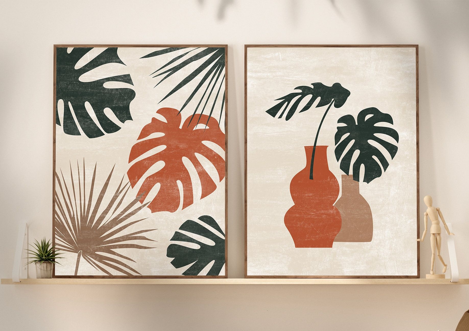 Abstract Botanical Art Set of 20 Prints Wall decor Boho   Etsy in ...