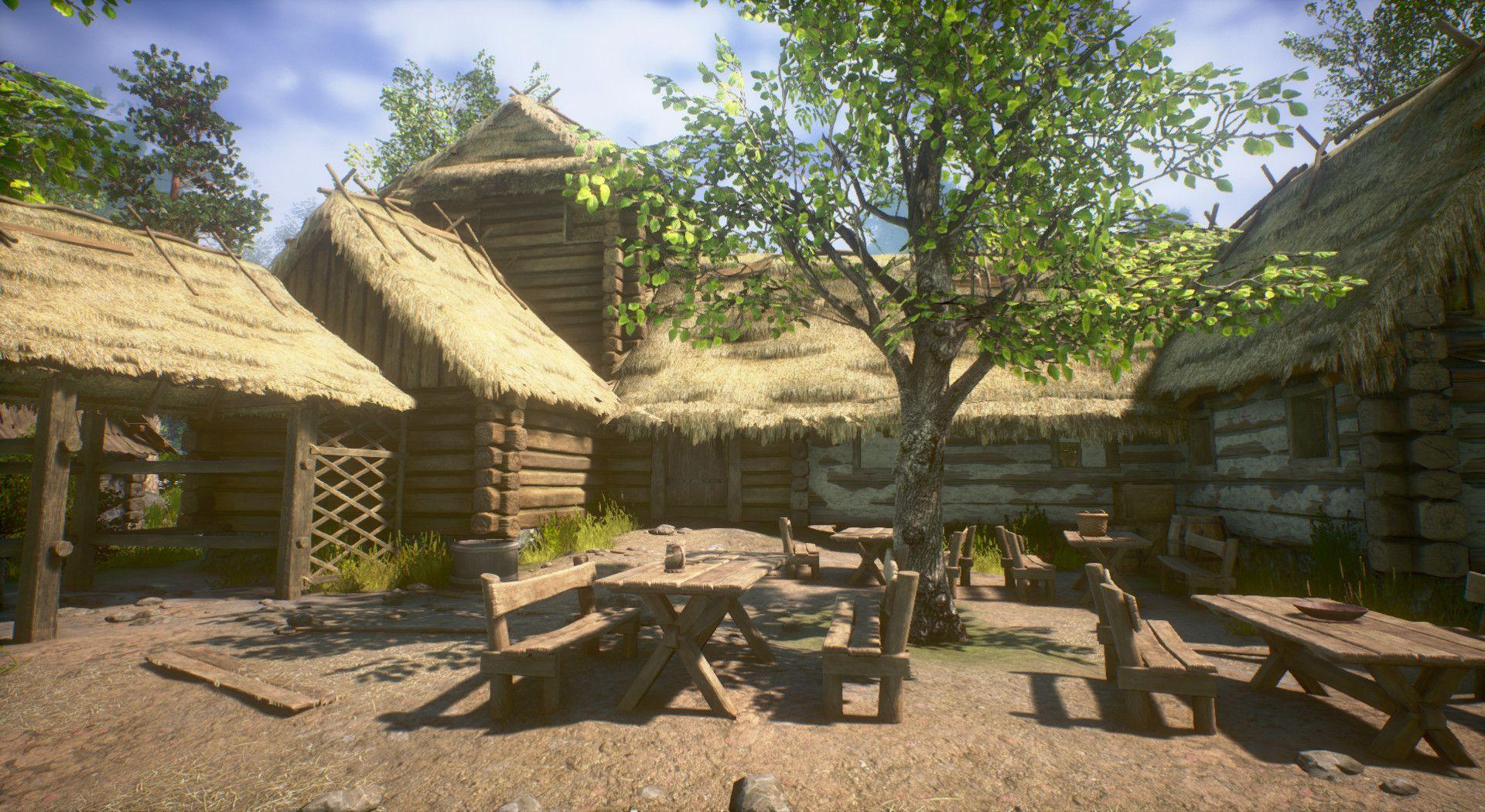 Artstation medieval village map unreal engine 4 robert luszczki