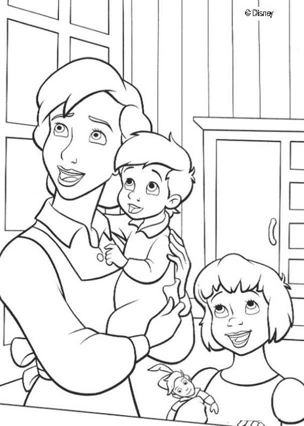 Peter Pan coloring pages - Darling family   noel   Pinterest