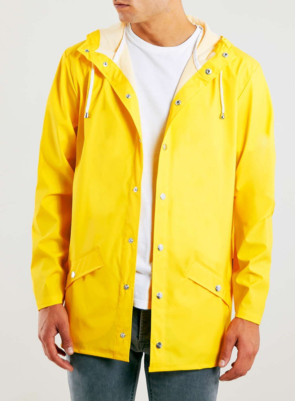 ca53bd60 Rains Yellow Short Jacket | style | Yellow rain jacket, Yellow ...