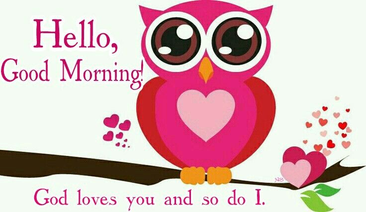 hello good morning god loves you and so do i