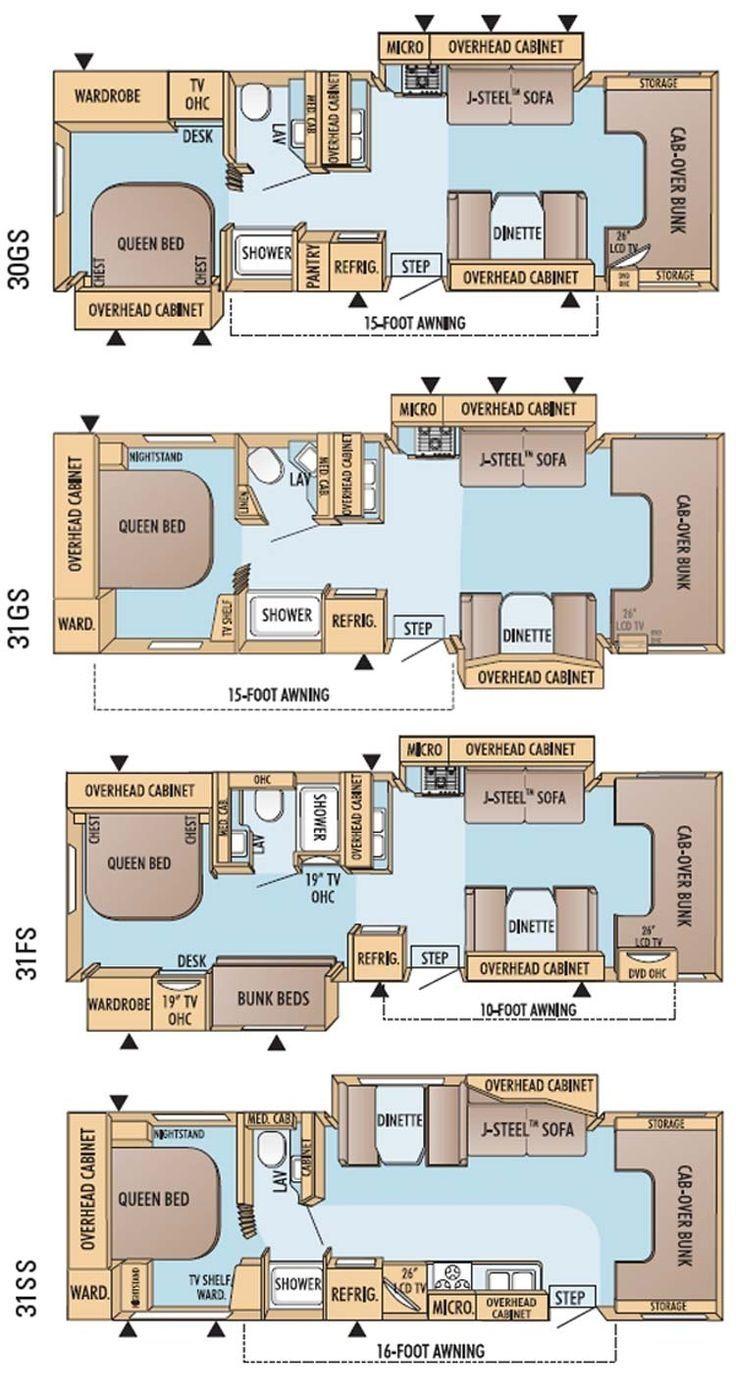 Thor jazz 5th wheel floor plans class c campers