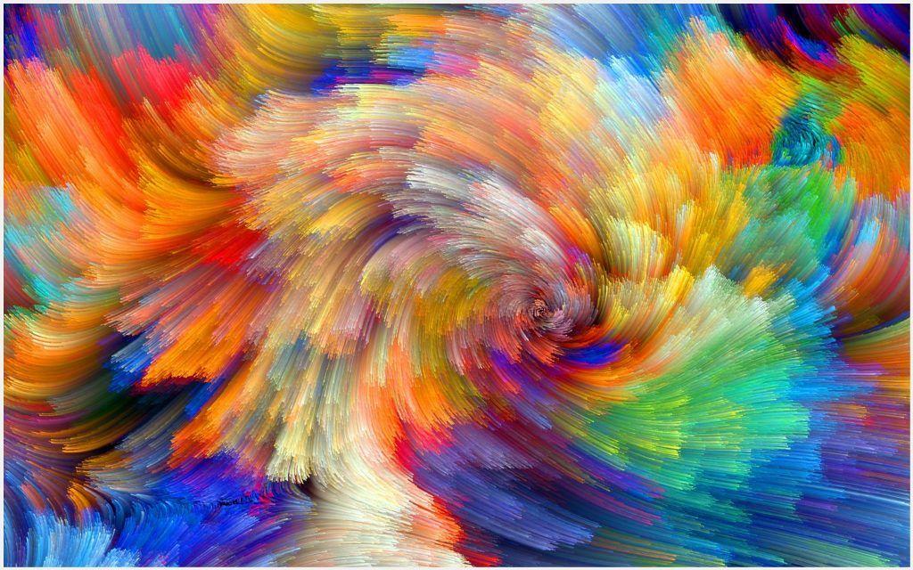 Rainbow Pattern Color Splash Background Wallpaper