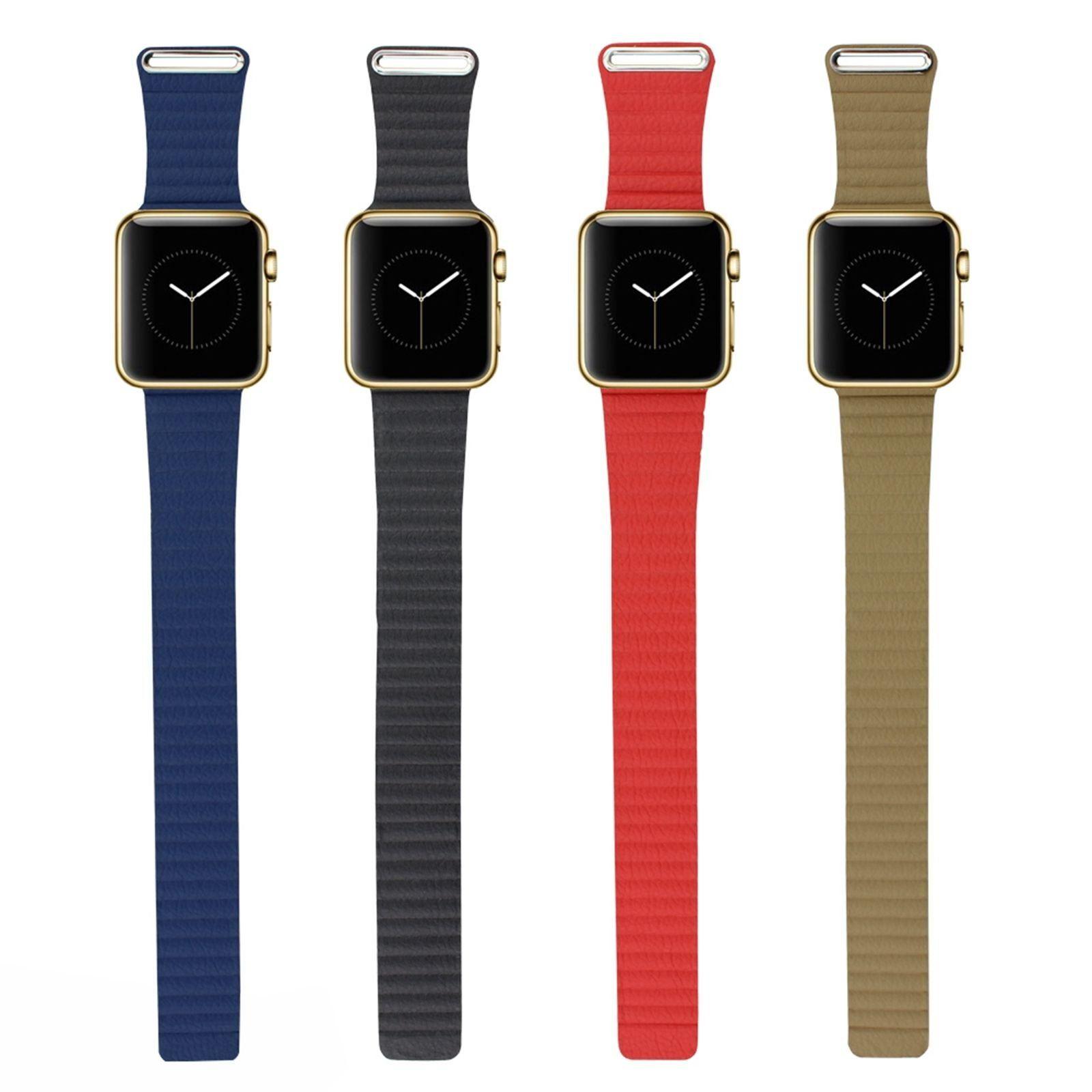 Superisun Luxury Leather Loop Strap Watch Band