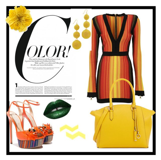 """""""Colorful"""" by bongie-2 ❤ liked on Polyvore featuring Balmain, Casadei, Gucci and Kenneth Jay Lane"""
