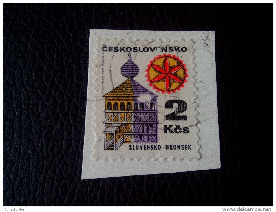 RARE 1972 Czechoslovakia 2 Kcs HRONSEK RECOMMENDET LETTRE ON PAPER COVER USED SEAL - Czechoslovakia